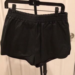 Lily White Leather Shorts